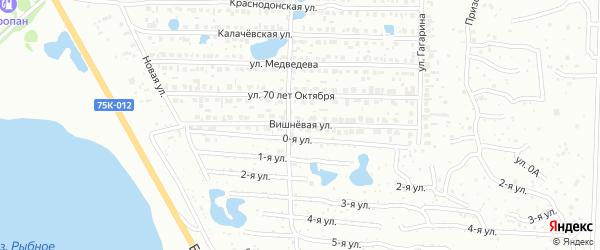 Улица Вишневая (бывший РП Октябрьский) на карте Копейска с номерами домов