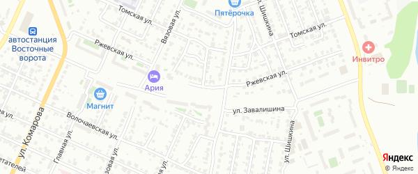 Ржевская улица на карте Челябинска с номерами домов