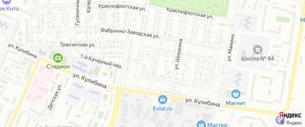 Газонный 2-й переулок на карте Челябинска с номерами домов