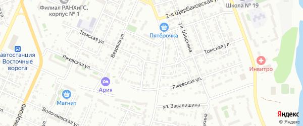 Томская улица на карте Челябинска с номерами домов