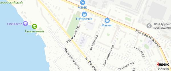 Улица Лескова на карте Челябинска с номерами домов