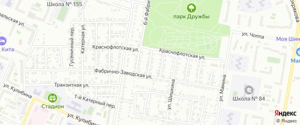 Фабрично-заводской 5-й переулок на карте Челябинска с номерами домов