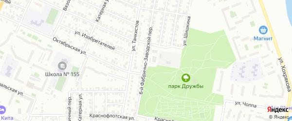 Фабрично-заводской 6-й переулок на карте Челябинска с номерами домов