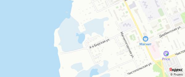 Бирская 3-я улица на карте Челябинска с номерами домов
