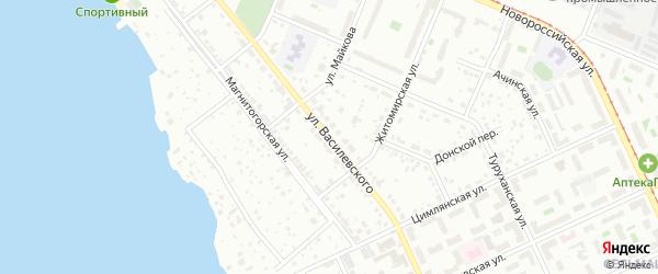 Улица Василевского на карте Челябинска с номерами домов