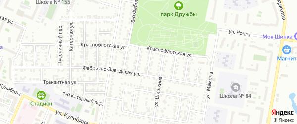 Фабрично-заводской 4-й переулок на карте Челябинска с номерами домов