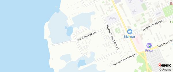 Бирская 4-я улица на карте Челябинска с номерами домов
