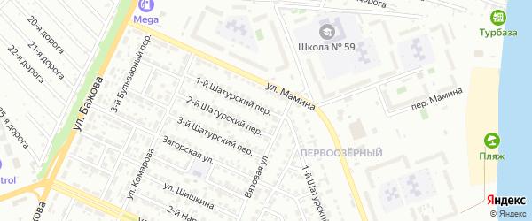 Шатурский 1-й переулок на карте Челябинска с номерами домов
