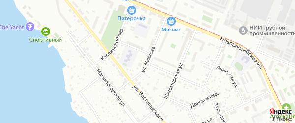 Улица Майкова на карте Челябинска с номерами домов