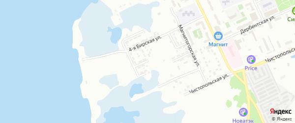 Бирская 5-я улица на карте Челябинска с номерами домов