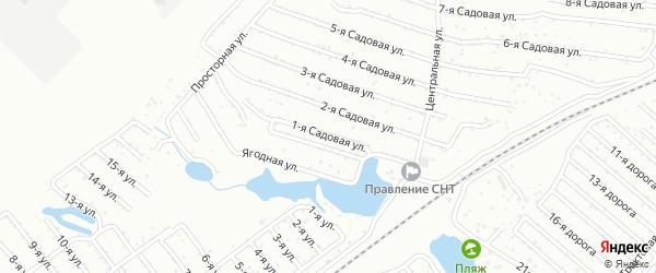 Хлебосад Садовая 1-я улица на карте Челябинска с номерами домов