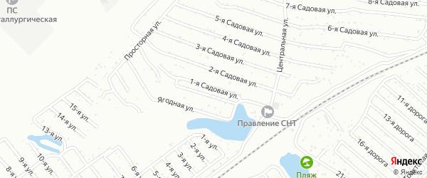 Сад ЖБИ-1 улица 1 на карте Челябинска с номерами домов