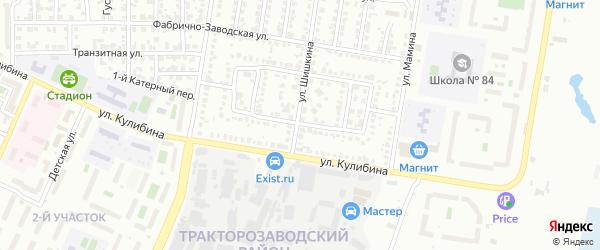 Внутриквартальная улица на карте Челябинска с номерами домов