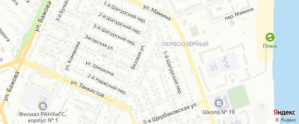 Вязовый переулок на карте Челябинска с номерами домов