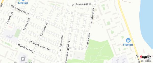Фабрично-заводской 7-й переулок на карте Челябинска с номерами домов