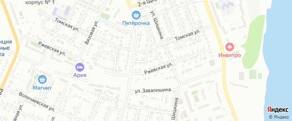 Бытовой 3-й переулок на карте Челябинска с номерами домов
