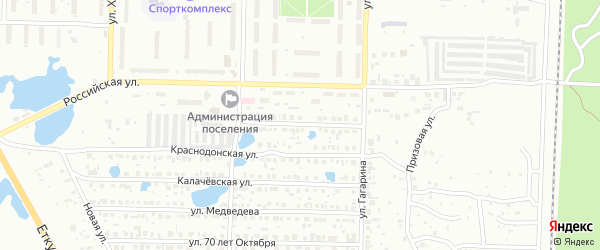 Отечественная улица на карте Копейска с номерами домов