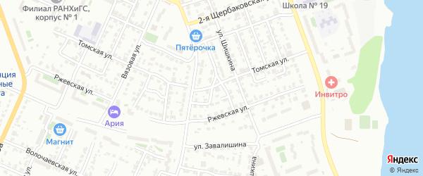 Бытовой 2-й переулок на карте Челябинска с номерами домов