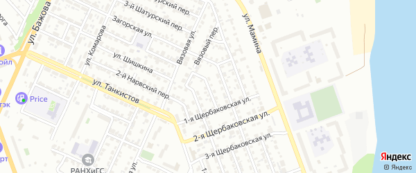 Загорский 2-й переулок на карте Челябинска с номерами домов