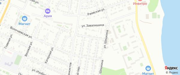 Радиальная 1-я улица на карте Челябинска с номерами домов