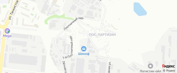 Кирпичная улица на карте Челябинска с номерами домов