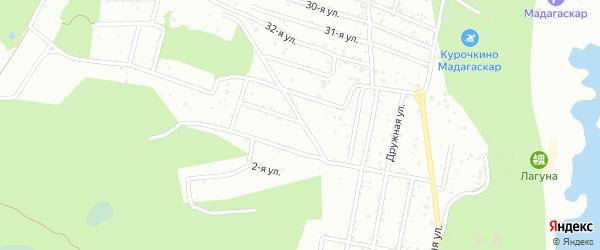 СНТ Березка-4 на карте Копейска с номерами домов