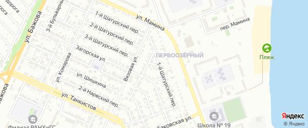 Загорский 1-й переулок на карте Челябинска с номерами домов