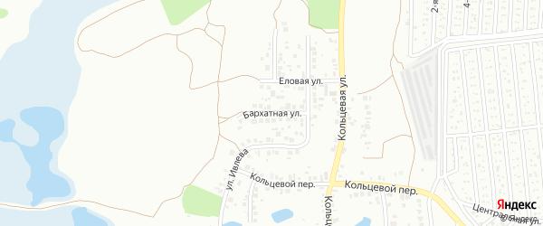 Бархатная улица на карте Челябинска с номерами домов