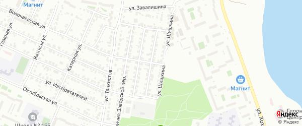 Фабрично-заводской 8-й переулок на карте Челябинска с номерами домов