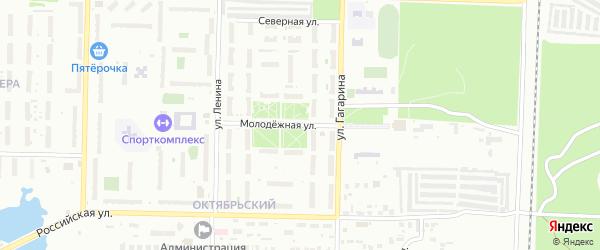 Улица Молодежная (бывший РП Октябрьский) на карте Копейска с номерами домов