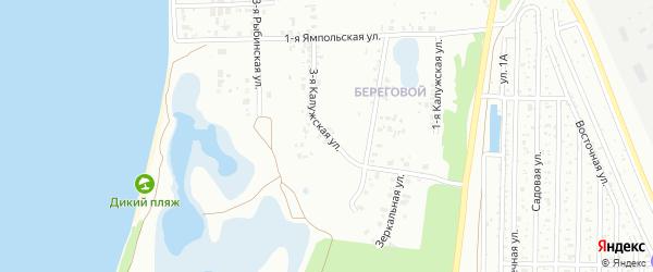 Калужская 3-я улица на карте Челябинска с номерами домов