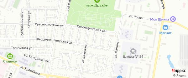 Фабрично-заводской 3-й переулок на карте Челябинска с номерами домов
