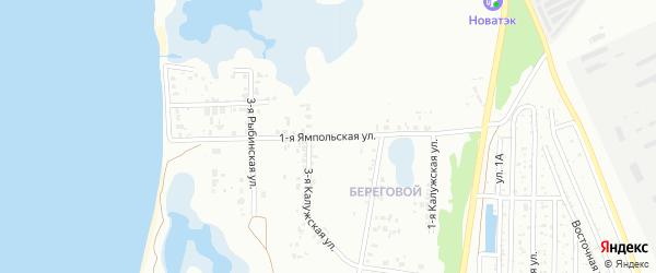 Ямпольская 1-я улица на карте Челябинска с номерами домов