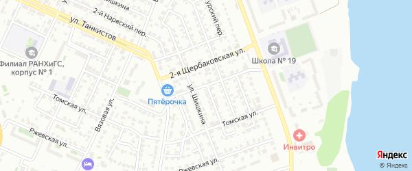 Щербаковская 3-я улица на карте Челябинска с номерами домов