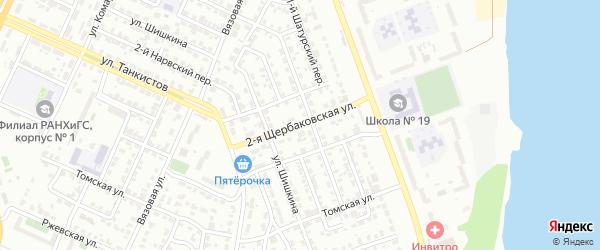 Щербаковская 2-я улица на карте Челябинска с номерами домов