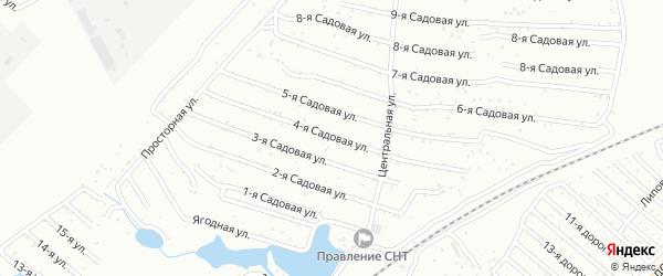 Хлебосад Садовая 4-я улица на карте Челябинска с номерами домов