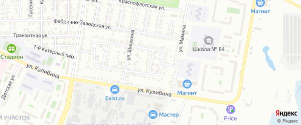 Газонный 1-й переулок на карте Челябинска с номерами домов