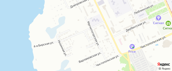 Макеевская 2-я улица на карте Челябинска с номерами домов