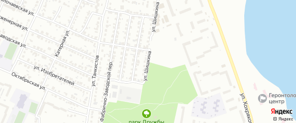 Улица Шишкина на карте Челябинска с номерами домов