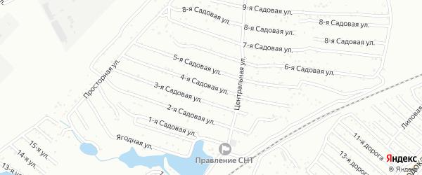 Сад Любитель-1 улица 4 на карте Челябинска с номерами домов