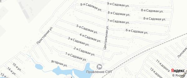 Оханская 4-я улица на карте Челябинска с номерами домов