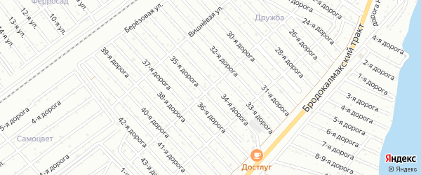 Сад СНТ Уралец Лесная ул на карте Челябинска с номерами домов