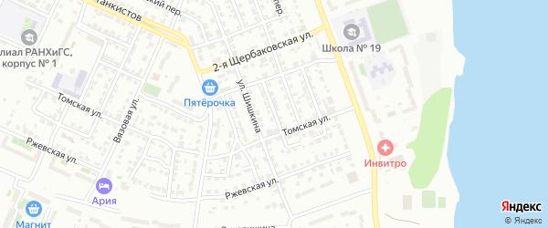 Загорский 4-й переулок на карте Челябинска с номерами домов