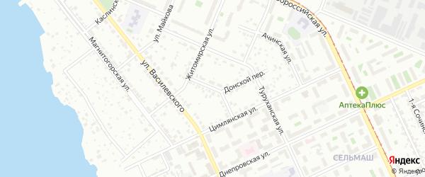 Коллекторная улица на карте Челябинска с номерами домов