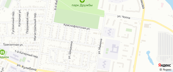 Фабрично-заводской 2-й переулок на карте Челябинска с номерами домов