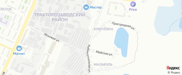 Рыбокоптильная улица на карте Челябинска с номерами домов