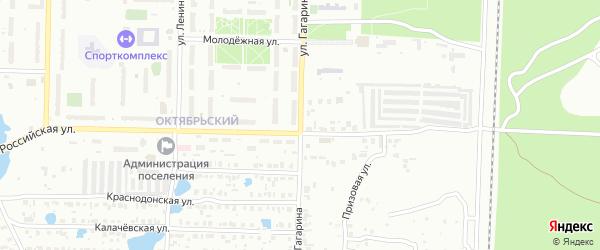 Улица Гагарина на карте Копейска с номерами домов