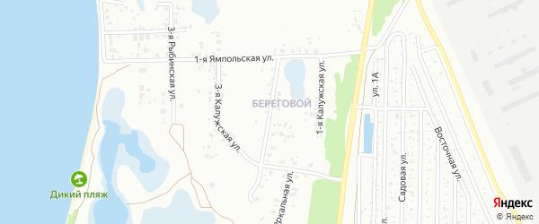 Калужская 2-я улица на карте Челябинска с номерами домов