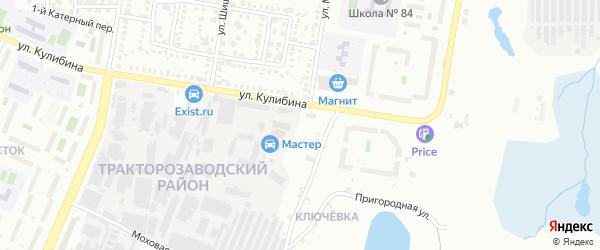 Рыбокоптильная 5-я улица на карте Челябинска с номерами домов