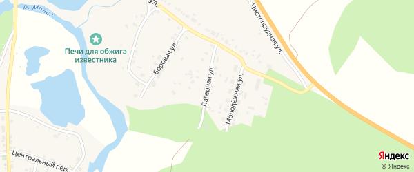 Лагерная улица на карте села Большое Баландино с номерами домов